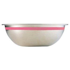 ボール ザル 漬物 米びつ 調理 ボール SA18-8 カラーライン ボール 21cmピンク ボール 料理道具 業務用 8-0245-0117