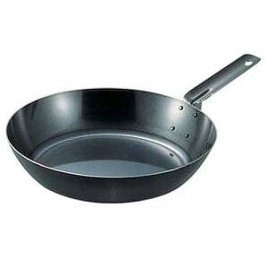 日本製 フライパン グリルパン ソテー 焼き物 SA鉄黒皮オーブン用厚板フライパン 24cm フライパン 料理道具 鉄 業務用 8-0093-0604