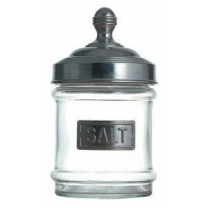 キッチンポット 保存容器 乾物 インテリア アルミキャップ ガラス キャニスター 100-030SLSALT 保存容器 料理道具 ガラス 蓋/アルミニウム 蓋内部シリコン 業務用 7-0237-0705