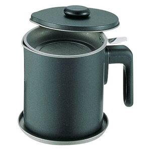 日本製 蒸し器 中華 揚げ物用品 ブラック・フィギュア オイルポット D-0481.5l 油缶 料理道具 鉄・テフロンフッ素樹脂加工 業務用 8-0416-1602