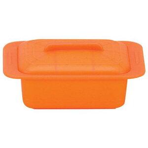 キッチンポット 保存容器 電子レンジ シリコーン シリコンスチーマー ウノ 59628キャロットオレンジ 料理道具 シリコン樹脂 業務用 8-0233-0102