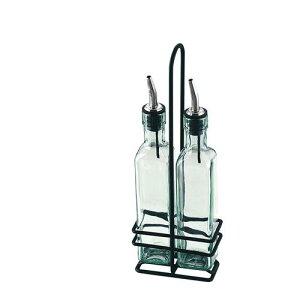 カスター 卓上用調味料入 ガラス オリーブオイルセット H9085NBK ドレッシングボトル・容器 卓上備品 業務用 8-0492-0801