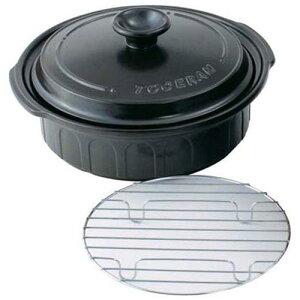 日本製 鍋類 ニュートーセラム 両手鍋浅型 25cm TSR-191AM-B(黒) 両手鍋 料理道具 耐熱陶土 業務用 8-0072-0601
