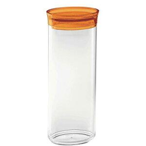 イタリア製 キッチンポット 保存容器 乾物 パスタ guzzini オーバルスパゲティジャー 2741.3145オレンジ 料理道具 AS樹脂 ABS樹脂 業務用 8-0092-1102