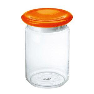 イタリア製 キッチンポット 保存容器 乾物 ガラス guzzini ガラスジャー 2299 0945500ccオレンジ ストッカー 料理道具 メタクリル樹脂 ポリスチレン ポリエチレン 業務用 8-0092-1602