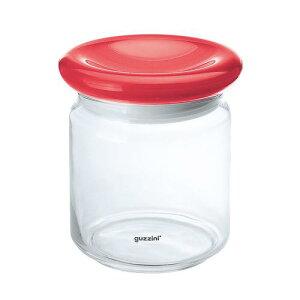 【業務用】 guzzini グッチーニ ガラスジャー 2299 0965500ccレッド ストッカー キッチンポット 保存容器 乾物 ガラス 料理道具