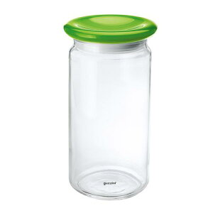 イタリア製 キッチンポット 保存容器 乾物 ガラス guzzini ガラスジャー 2299 1244750ccグリーン ストッカー 料理道具 メタクリル樹脂 ポリスチレン ポリエチレン 業務用 7-0094-0805