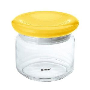 イタリア製 キッチンポット 保存容器 乾物 ガラス guzzini ガラスジャー 2299 22881500ccイエロー 料理道具 メタクリル樹脂 ポリスチレン ポリエチレン 業務用 8-0092-1616