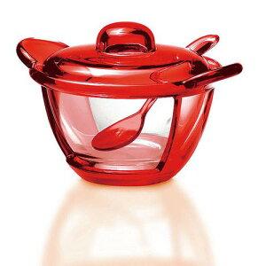 イタリア製 洋食器 コーヒー ティーカップ guzzini パルメザンチーズジャー 2317.0065レッド グラス・食器 ガラス AS樹脂 ポリエチレン 業務用 8-2315-1604