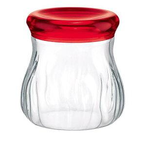 キッチンポット 保存容器 乾物 パスタ guzzini アクリルジャー 750cc 2851.0065レッド 料理道具 材質/SAN樹脂 ポリエチレン 業務用 8-0092-1702