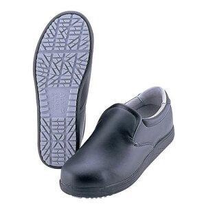 アキレス クッキングメイト 014 黒 25.5cm(爪先保護タイプ) 安全靴 人工皮革 業務用 8-1405-0308