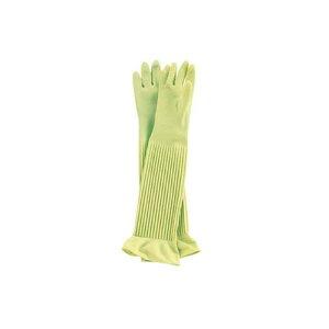 手袋 天然ゴム厚手手袋 スーパーロング L ゴム手袋 長靴・白衣 天然ゴム 業務用 8-1422-0502