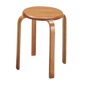 椅子 スツール W-1030(BR) いす テーブル・椅子 脚/成型合板 座/天然木 業務用 7-2397-0101