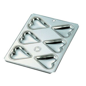 日本製 フレキシブルモンド 天板型 ブリキ マフィン型 ハート型6カップ マフィン型 製菓用品 ブリキ 業務用 7-1040-0801