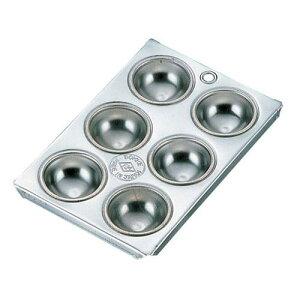 日本製 フレキシブルモンド 天板型 ブリキ マフィン型 マコロン型 6カップ マフィン型 製菓用品 ブリキ 業務用 7-1040-1501