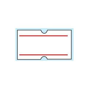 日本製 包装機械 シーラー ハンドラベラーACE用ラベル(10巻入)上下赤ライン(1巻1000枚) 消耗品 紙 業務用 8-1495-0204
