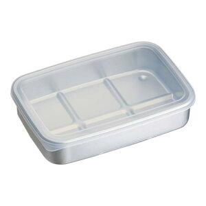 キッチンポット 保存容器 アルミ急速冷凍保存容器 L ナチュラル 料理道具 本体:アルミニウム ふた:EVA樹脂 業務用 8-0215-0603