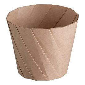 スナック包材 使い捨て容器 おりがみカップ(20枚入) 大 茶 軽食・鉄板焼用品 業務用 7-0927-1102