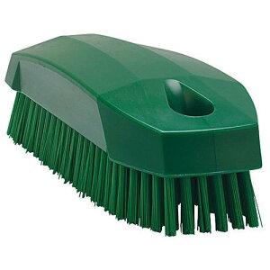 デンマーク製 トイレ用品 手洗い 消毒 ヴァイカン ネイルブラシ ハードタイプ 6440 グリーン 清掃用品 ボディ部=ポリプロピレン フィラメント=ポリエステル 業務用 8-1247-0104