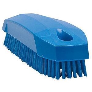 デンマーク製 トイレ用品 手洗い 消毒 ヴァイカン ネイルブラシ ハードタイプ 6440 ブルー 清掃用品 ボディ部=ポリプロピレン フィラメント=ポリエステル 業務用 8-1247-0105