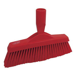 スポンジ タワシ ブラシ ヴァイカン フロアブルーム 3130 レッド 清掃用品 業務用 8-1250-0602