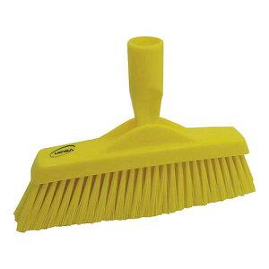 スポンジ タワシ ブラシ ヴァイカン フロアブルーム 3130 イエロー 清掃用品 業務用 8-1250-0603