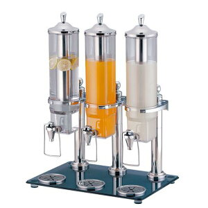 チューフィング ウォーマー KINGOジュースディスペンサー2.6L 36403−2(3連タイプ) バンケットウェア 業務用 8-0897-0501