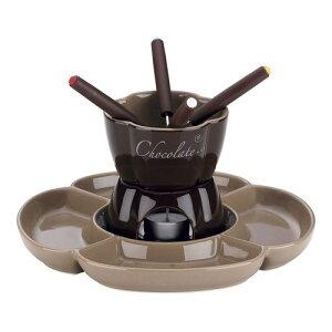 洋食卓上鍋 ソースポット チョコレートフォンデュセット4人用 フィオーレ 12423 テーブルウェア 業務用 7-1778-0301