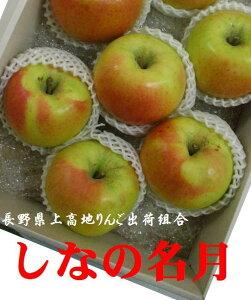 長野県上高地りんご出荷組合 コクのある甘み 「しなの名月」1箱3kg(6〜10玉)