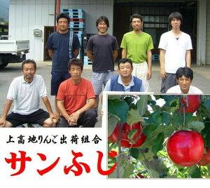 長野県上高地りんご出荷組合 きめこまかな肉質と濃厚な甘み ゆたかな香り 「サンふじ」1箱5kg(14〜18玉)