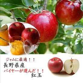 ジャムに最適!!長野県産 紅玉 1箱 2kg(8〜10玉)