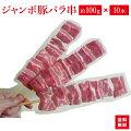『ジャンボ豚バラ串約100g×10本入り』豚バラ串はBBQにお祭りに学園祭に人気者です!