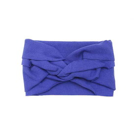 【La Maison de Lyllis (ラ メゾン ド リリス) 】LOOP ヘッドバンド(BLUE) / フィット感抜群、締め付けストレスなし!ストレッチ幅広ヘアバンド