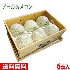 【送料無料】熊本県産アールスメロン Lサイズ 6玉入り