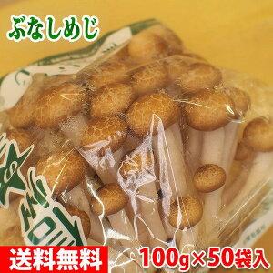 【送料無料】長野県産 しめじ 100g×50パック