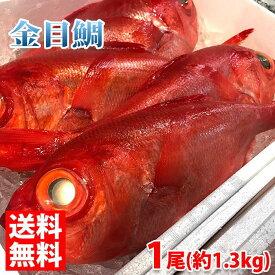 【送料無料】静岡県産 金目鯛(キンメダイ)1尾 1kg〜1.5kg(正味 700g前後)