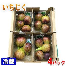愛知県産 いちじく(無花果)3〜5玉入り×4パック/箱