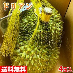【送料無料】タイ産 ドリアン 4玉入(1玉約2.3〜2.5kg) 10kg(箱)