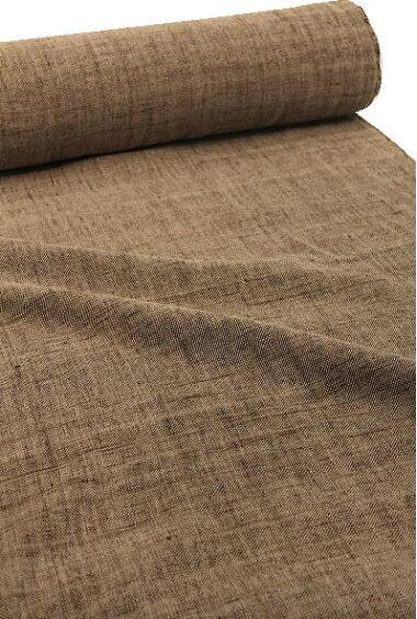 綿生地品番、P-34(508)幅64cm(手紡ぎ、草木染の手織り布)無地コットン