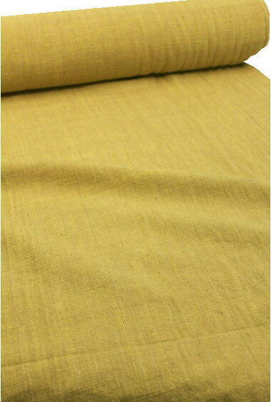 綿生地品番、XA9/YE(509)幅76cm(手紡ぎ、草木染の手織り布)