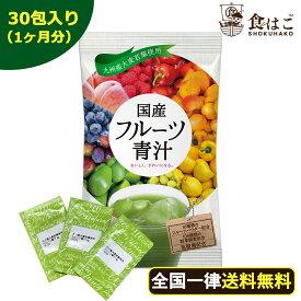 【送料無料】フルーツ青汁:1ヶ月分 63g(3g×30包)[青汁 酵素 ダイエット 健康 フルーツ 16種類 の フルーツパウダー と 105種類 の 野菜酵素 国産 ポイント消化 ]