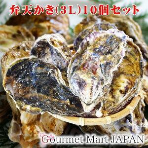 弁天かき[3L(A5)サイズ]10個セット 北海道厚岸産 特大 牡蠣 殻付き 牡蠣 生食 お取り寄せグルメ プレゼント ギフト