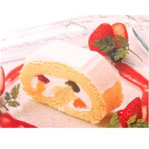 テーブルマーク グランロールフルーツ(冷凍)(ロールケーキ)650g 6本×1箱 【お取り寄せ品】