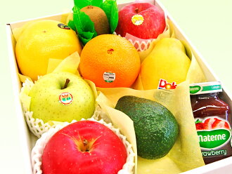 -Wrapping options ~ tropical fruit with fruit gift