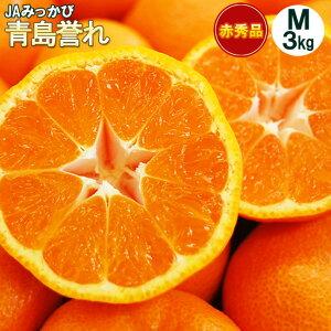 本貯蔵青島誉れみかん【赤秀】Mサイズ3キロ(27個前後)(三ケ日みかん)
