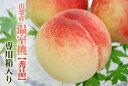 山梨産温室桃【秀品】5〜6個化粧箱入り