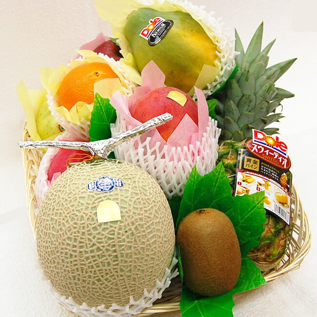 フルーツてんこ盛りデラックス(約6.5キロ)【果物】【詰め合わせ】【内祝】【お見舞い】【かご盛り】【お供え】【法事】【彼岸】