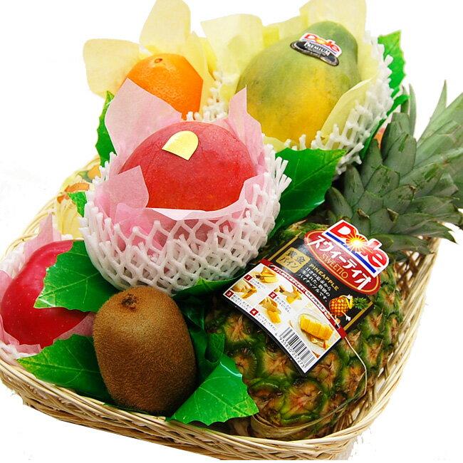 フルーツてんこ盛り(約5キロ)【果物】【詰め合わせ】【内祝】【お見舞い】【かご盛り】【お供え】【法事】【彼岸】