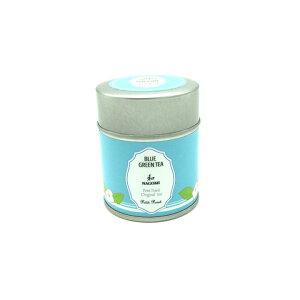 ライチ香る青い緑茶 和(なごみ) 1缶(3g×5個) SNS映え サプライズ 母の日 ギフト 無農薬 ハーブ 水出し インスタ映え バタフライピー