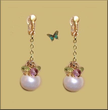 イアリング 女性 パール 大粒 真珠 ペリドット アメジスト かわいい 揺れる イヤリング グリーン 緑 ホワイト 白 紫
